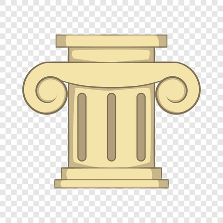 Roman column icon, cartoon style