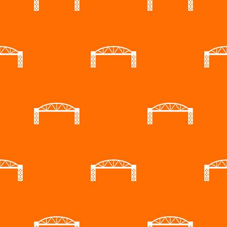 Metal bridge pattern vector orange for any web design best Stock Illustratie