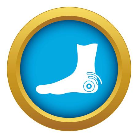 Foot heel icon blue vector isolated Illustration