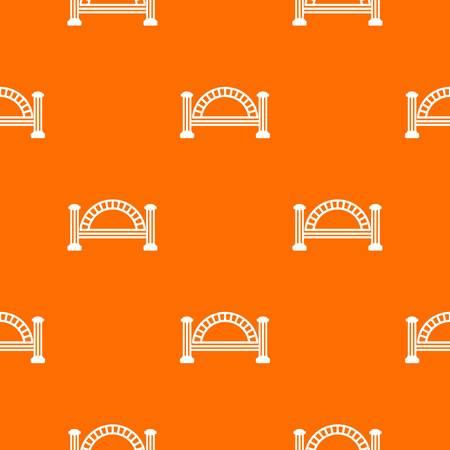 Metallic bridge pattern vector orange for any web design best