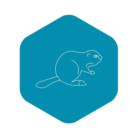 Beaver icon. Outline illustration of beaver vector icon for web Illustration