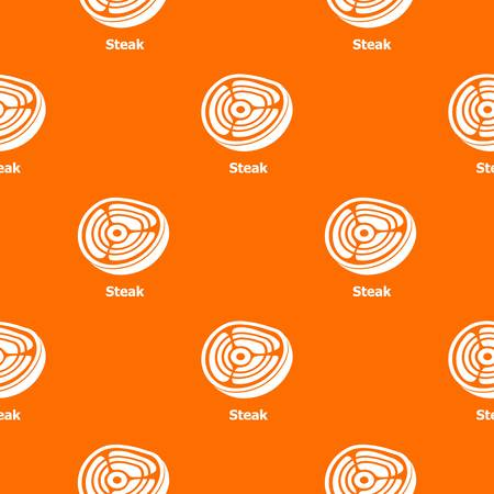 Steak pattern vector orange