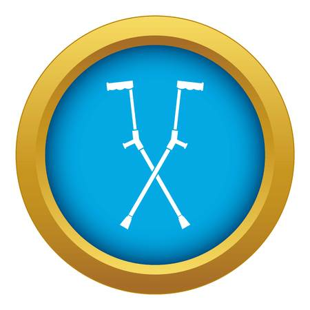 Other crutches icon blue vector isolated