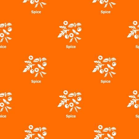 Spice pattern vector orange for any web design best