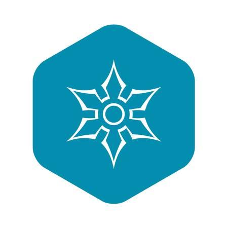 Ninja shuriken star weapon icon, outline style