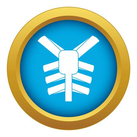 Human thorax icon blue vector isolated