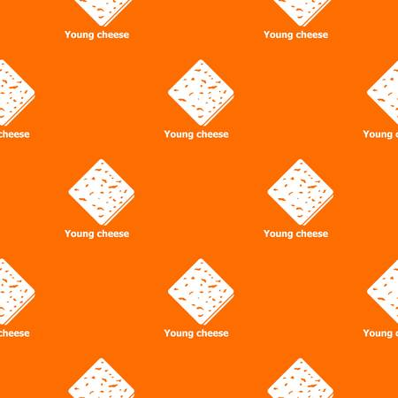 Cheese pattern vector orange for any web design best
