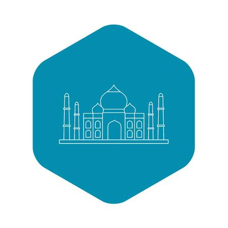 Taj mahal icon, outline style