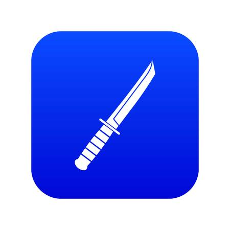Little knife icon digital blue