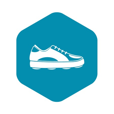 Golf shoe icon. Simple illustration of golf shoe vector icon for web