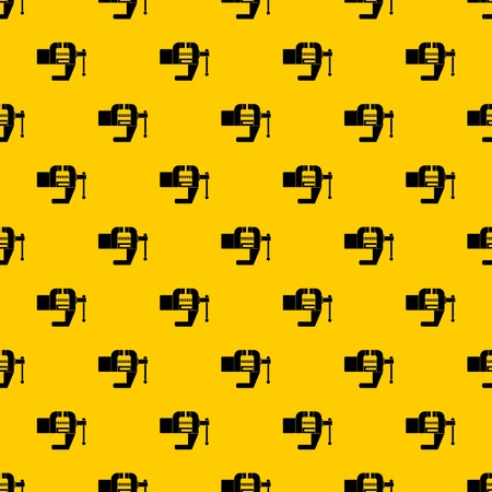 Vise tool pattern seamless vector repeat geometric yellow for any design