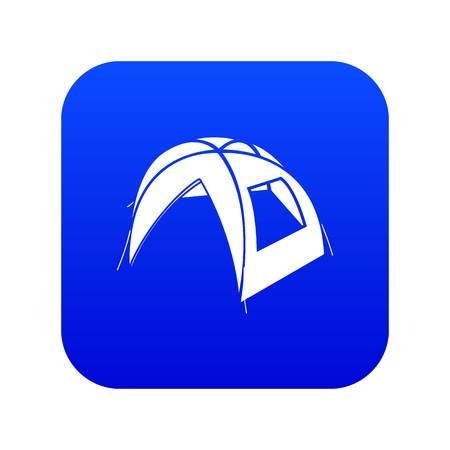 New tent icon blue vector Illustration