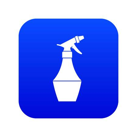 Spray bottle for flower icon digital blue