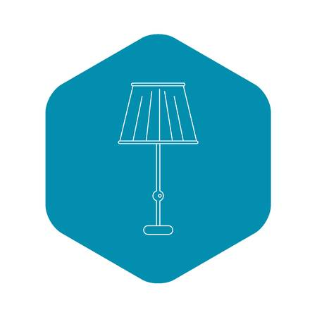 Floor lamp icon, outline style