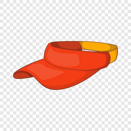 Sun cap icon in cartoon style isolated on background for any web design  Vettoriali