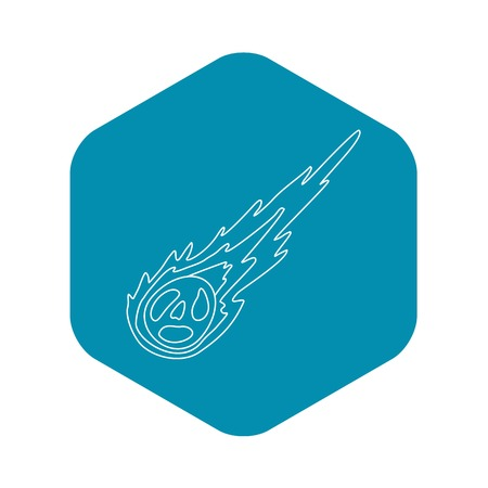 Meteorite icon, outline style