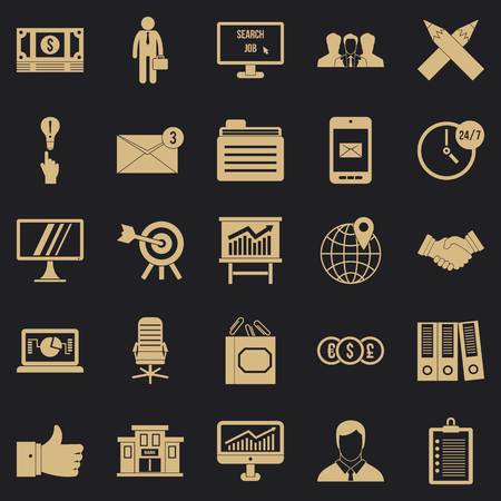 Cashbox icons set. Simple set of 25 cashbox vector icons for web for any design 일러스트