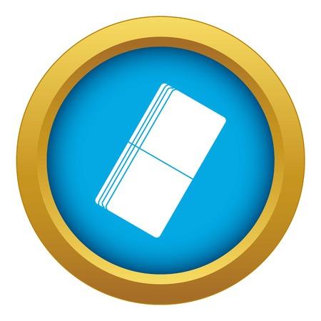 Eraser icon blue vector isolated Иллюстрация
