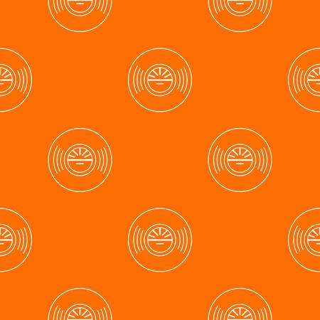 Vinyl record pattern vector orange