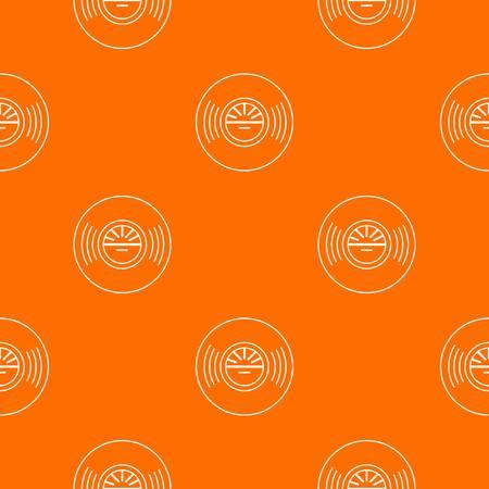 Vinyl record pattern vector orange Stock Vector - 122241642