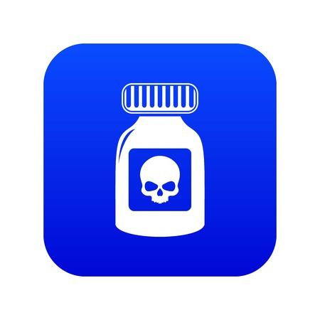 Deadly liquid icon blue vector Ilustração