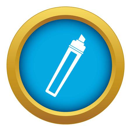 Marker icon blue vector isolated Vettoriali