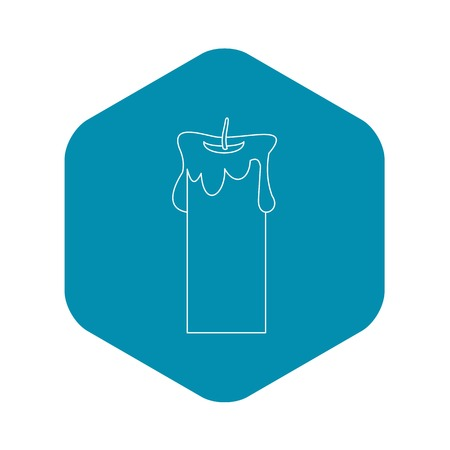 Big candle icon, outline style