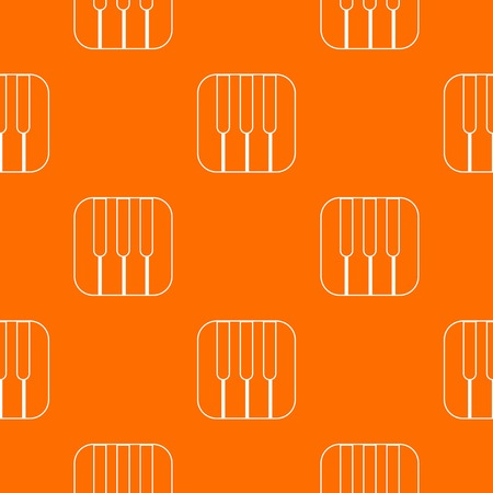 Piano keys pattern vector orange 向量圖像