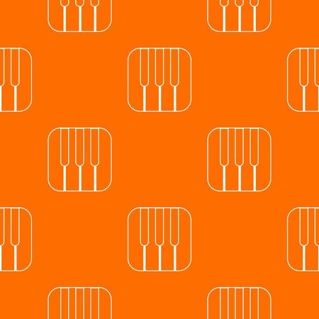 Piano keys pattern vector orange Illustration