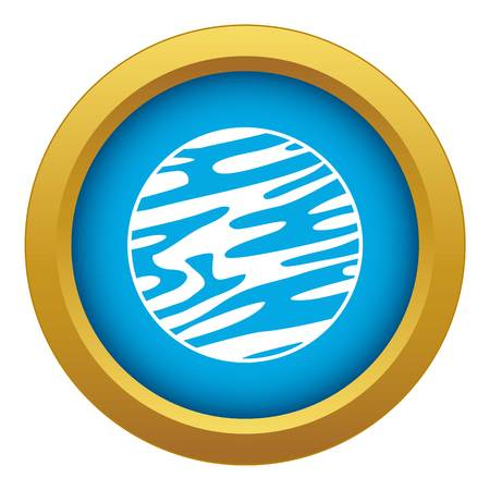 Far away planet icon blue vector isolated