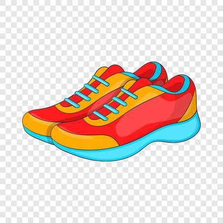Sport sneakers icon in cartoon style isolated on background for any web design