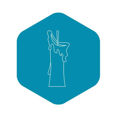Little candle icon, outline style