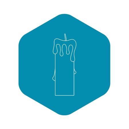 Memorial candle icon, outline style
