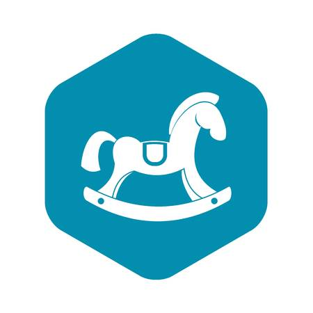 Toy horse icon, simple style
