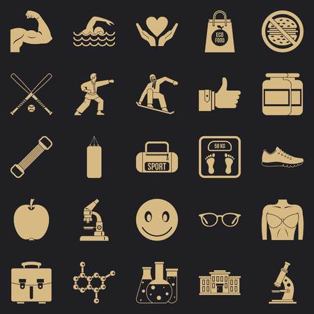 Healthy nation icons set. Simple set of 25 healthy nation vector icons for web for any design