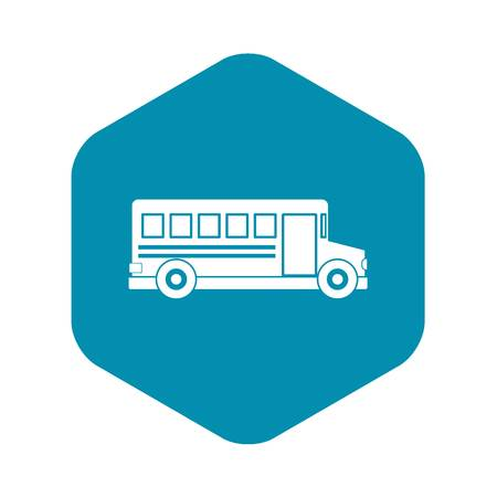 School bus icon, simple style