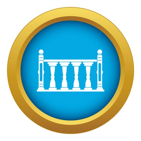 Balustrade icon blue vector isolated