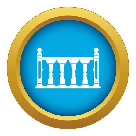 Balustrade icon blue vector isolated Stockfoto - 122724416