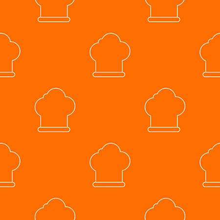 Chef hat pattern vector orange for any web design best