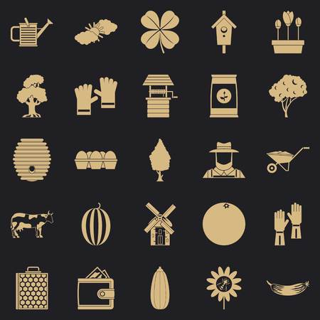 Nut icons set. Simple set of 25 nut vector icons for web for any design