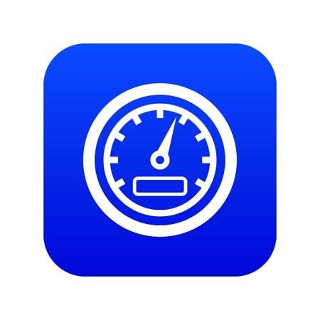 Speedometer icon digital blue for any design isolated on white vector illustration Illustration