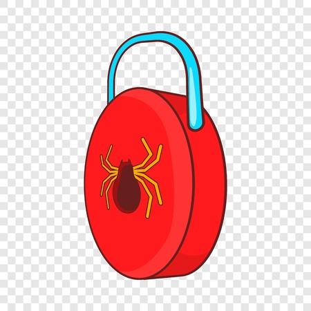 Virus protection sign icon, cartoon style Stock Illustratie
