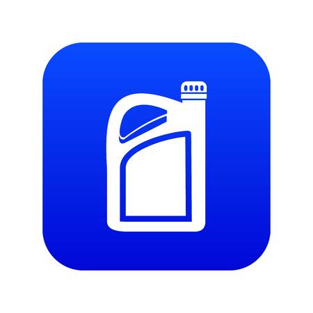 Jerrycan icon digital blue for any design isolated on white vector illustration Çizim