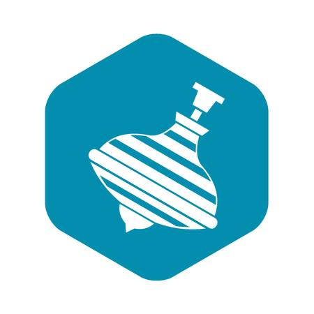Carousel humming top icon. Simple illustration of carousel humming top vector icon for web Ilustrace