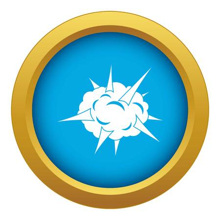 Power explosion icon blue vector isolated