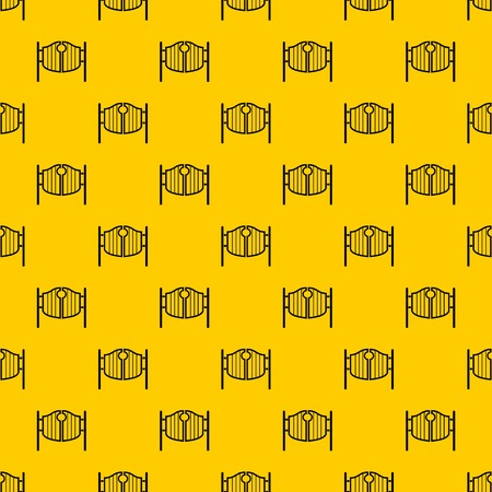 Vintage western swinging saloon doors pattern seamless vector repeat geometric yellow for any design