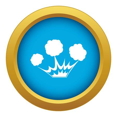 Explosion icon blue vector isolated