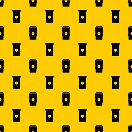Trash can pattern seamless vector repeat geometric yellow for any design Illustration