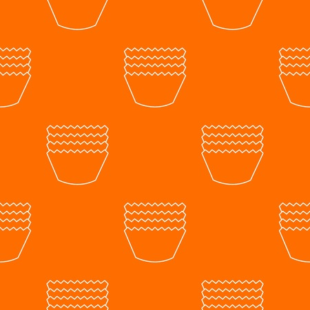 Baking molds pattern vector orange