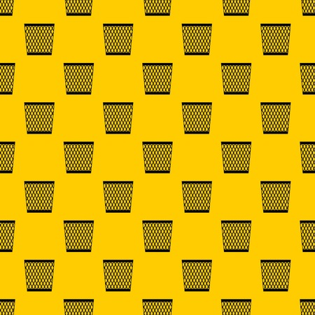 Trash can pattern seamless vector repeat geometric yellow for any design Ilustração